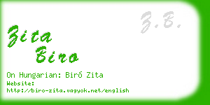 zita biro business card